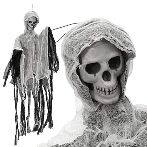 Eliasan Tragbare Halloween hängenden Dekor Scary Skeleton Ghost Haunted Dekor für Haus Bar Home Garden Party Indoor 35,43 x 23,62 - Garden Party Thema Kostüm