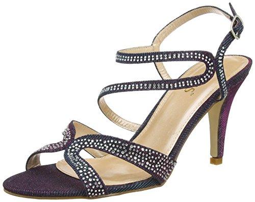 Lotus Women's Hibiscus Heels Sandals, Purple (Prp Multi), 6 UK 39 EU