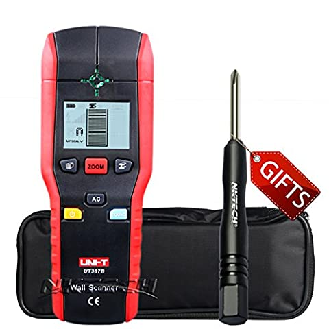 Nktech Uni-T Ut387b multifonctionnel Handheld murale détecteur de métal Bois Mode Silencieux AC cable Finder scanner avec Tl-1Tournevis
