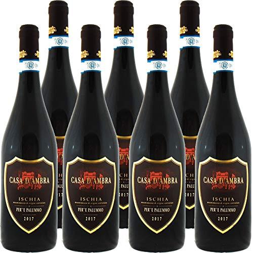 Ischia Per''E Palummo Casa d'Ambra   Vino Rosso dell'Isola di Ischia   Confezione 6 bottiglie da 75 cl   Idea Regalo
