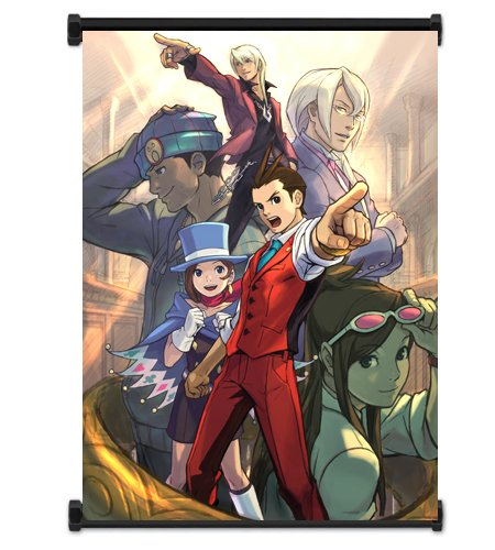 Ace Attorney Phoenix Wright Video Game Fabric Wall Scroll Poster (16' x 21') Inches