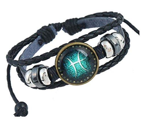 Fashion Constellations Hand gewebt Lederarmband