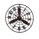 Vinteen Uhr Vintage Nostalgie Industrial Wind Eisen Kunst Fan Wanduhr LOFT Hollow Clock Restaurant Bar Internet Cafe Kreativität Dekorationen Wandbehang Uhr Horologe