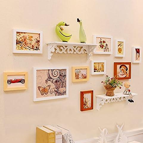 YUPD Legno solido caldo famiglia camera decorazione foto parete rack foto cornice wall hanging , c Cornice portafoto da parete/ Cornici foto - Disney Wall Hanging