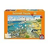 Schmidt Spiele Puzzle 56248 Tiere am Meer, Kinderpuzzle, 60 Teile