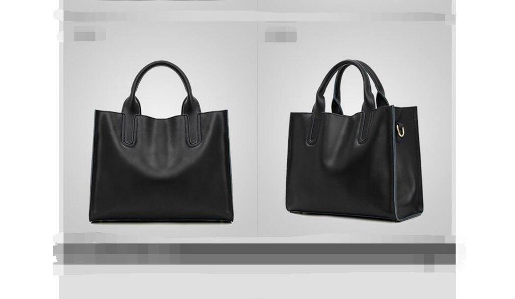 Le nuove borse in pelle di moda, semplice grande borsa in pelle, la signora portatile, spalla, Mess
