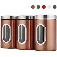 Blusea 3pcs / set conteneur de stockage des aliments ensemble de stockage des aliments avec couvercles cuve de stockage…