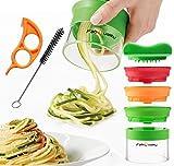 FabQuality Premium Espiralizador Cortador vegetal ESPECIAL VERANO Veggetti espiral Slicer Paquete completo (3 cuchillas)