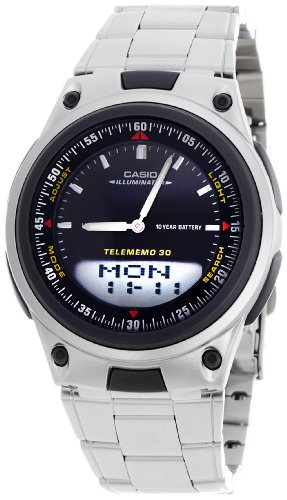 Casio (AW-80D-1AVDF|AD60) Youth Black Dial Men's Analog-digital Watch image