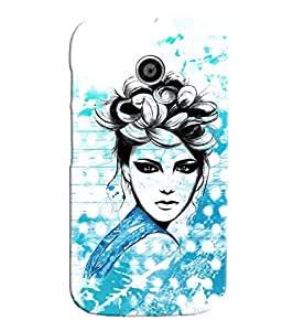 Fuson Cute Girl Back Case Cover for MOTOROLA MOTO E - D3869