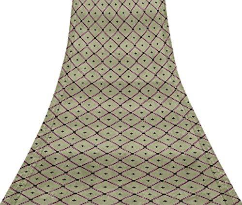 Svasti prüfen & Jamdani Vintage Sari Refurbished lila 100% reine Seide gedruckt Craft Stoff 1 Yard -