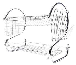 designer habitat magnifique gouttoir vaisselle en chrome d 39 acier cuisine maison. Black Bedroom Furniture Sets. Home Design Ideas