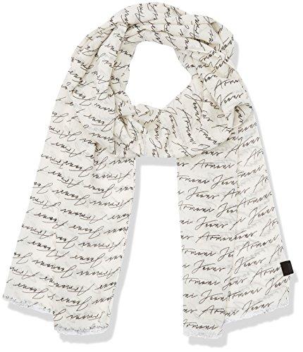 Armani Jeans Herren Schals 9340577P701, Weiß (Bianco 00010), One Size (Herren Schal Von Armani Für)