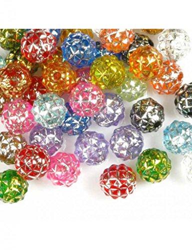 ca.50 Stück Acrylperlen Spacer Beads Schmuck Perlen Rund Mix Bunt 8x8x8mm AR0398
