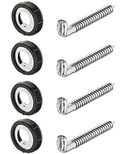Gedotec Schraubhaken Hängeschrank Schrankaufhänger zum Einbohren Küchen-Aufhänger für Möbel & Hängeschränke | Schrankaufhängung höhen-verstellbar inkl. Aufhänger | Tragkraft 25 kg | 4 Stück mit Schrauben