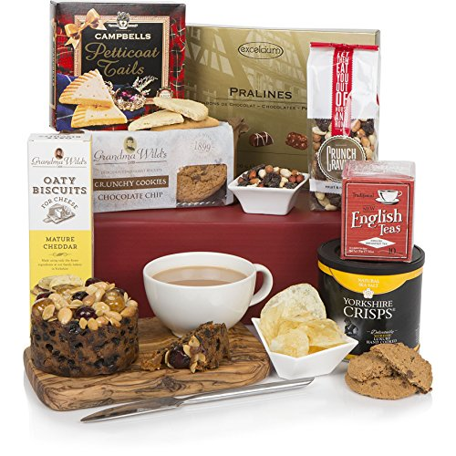 Teatime Delights Hamper - Luxury Food & Tea Gift Hampers For Him or For Her, Birthday & Special Occasions