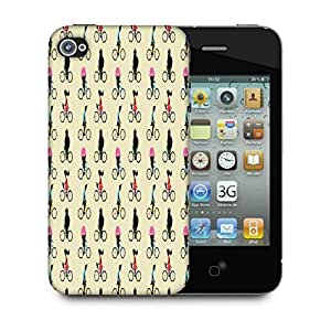 Snoogg Cute Ice Cream Bear Pattern Designer Protective Back Case Cover For Apple Iphone 4