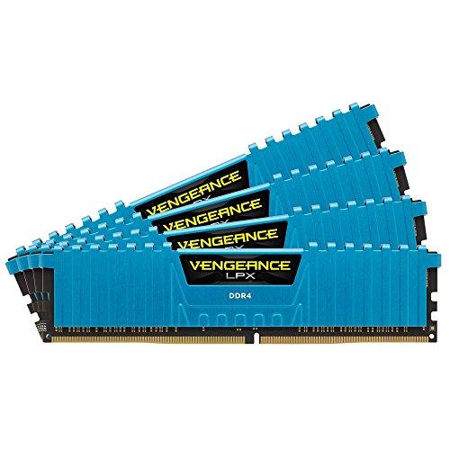 Corsair Vengeance LPX - Módulo de Memoria XMP 2.0 de Alto Rendimiento de 32 GB (4 x 8 GB, DDR4, 2400 MHz, C14) Color Azul
