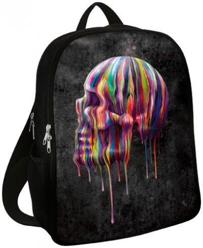 Zaino Dark Wear-Dripping Skull-Nero