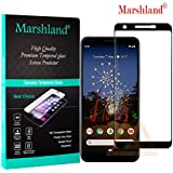 Marshland Full Glue 9H Hardness Anti Scratch Bubble Free High Transparency Screen Protector Tempered Glass Compatible with Google Pixel 3a (Black)