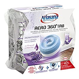 Ariasana Aero 360° Ricarica TAB Lavanda per Dispositivo Aero 360° kit, Assorbi Umidità in Tab Profumata Rilassante…