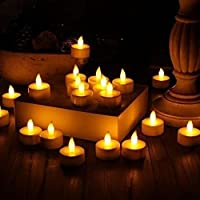 Luckhome 12PC Electronic Candle Light, LED Tea Light Candles Realistic Battery-Powered Flameless Candles