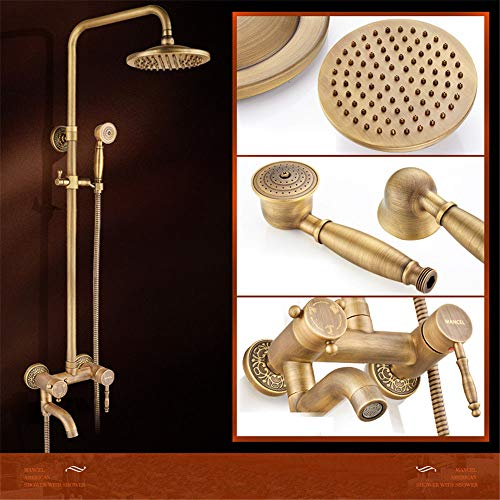 Antike Dusche Set Kupfer Badezimmer Badewanne Artefakt Haushaltsdusche EuropäIschen Stil Bad Duschkopf.