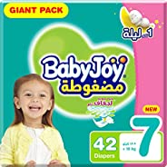 BabyJoy Compressed Diamond Pad, Size 7, 3XL, 18+ kg, Giant Pack, 42 Diapers