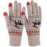 Novawo Gestrickte Damen Touchscreen-Handschuhe fr iPhone, iPad und Tablet