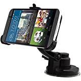 EnGive Windshield HTC One M9 Car Holder Mount 360 Degrees Rotation Cradle (HTC One M9)