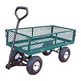 Izzy Bollerwagen, Gartenwagen, 275 kg Tragkraft, Luftreifen, klappbare Seitenteile