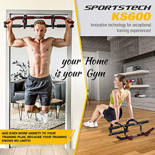 Sportstech-Premium-Combi-Package-6in1-pull-up-bar-incl-Dip-Bar-Power-Ropes-door-bar-without-drilling-pull-up-bar-for-Crossfit-strength-training-at-home-KS600-multifunctional-FREE-eBook