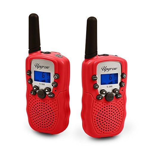 Upgrow 2X Walkie Talkies Set Kinder Funkgeräte 3KM Reichweite 8 Kanäle mit Taschenlampe Walki Talki Kinder - Machen Sie Ein Roboter Kostüm