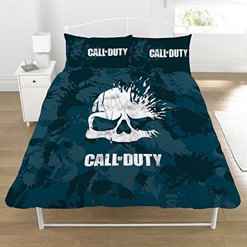 Call of Duty set copripiumino, blu scuro, double