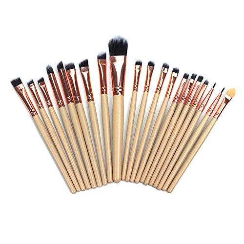 Glomixs Set de Pinceaux de Maquillage pour Les Yeux,Ensemble de brosses de Maquillage Professionnel de 20 pcs Sèche-Cheveux synthétiques Multi-Fonction Oeil à paupières Blush Powder Brushes Kit Tools