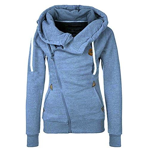 Laixing - Sweat-shirt - Femme Bleu jean