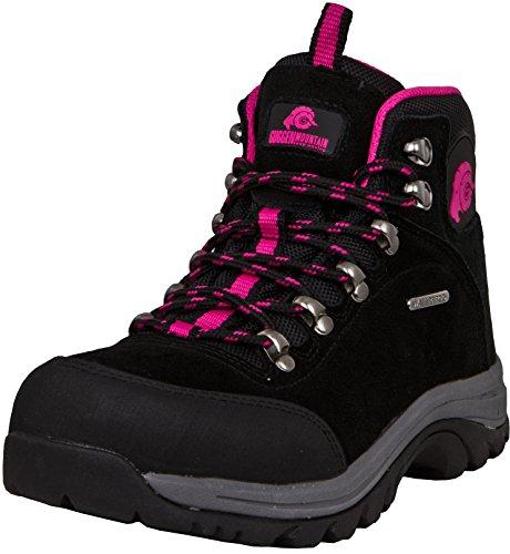 GUGGEN Mountain M014 Damen Trekking-& Wanderstiefel Outdoorschuhe Wasserdicht mit Membran und Wildleder Farbe Pink EU 39