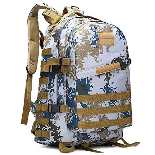 LF&F Military Pack Tarnung taktische Tasche Schultertasche wasserdichte Oxford Bergsteigen Tasche Outdoor Rucksack Sport Rucksack Camping Rucksack Wanderrucksack Multifunktions Großraum Rucksack Q