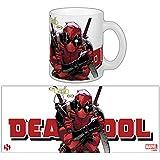 Sémic-SMUG105-Taza con imagen de Deadpool-Héro Marvel-tema Have to go, color blanco