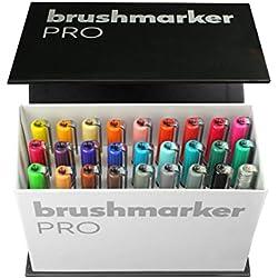 Karin Mini Box Brush Pro Lot de 26Pro Brush marqueurs + 1Blender Transparent Corps avec système de free Ink, 2, 4ml liquide farbe. pas de feutre marker