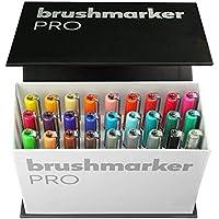 Karin Mini Box Brushmarker Pro 26 unidades + 1 Blender Cuerpo transparente con sistema Ink-Free de 2,4 ml de color líquido sin rotuladores