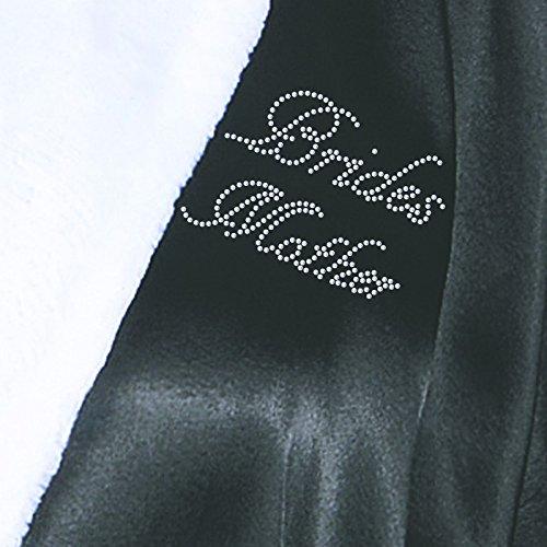 Mutter der Braut Satin Fleece Strass Bademantel Wedding Day personalisierbar Honeymoon Bademantel Elfenbeinfarben schwarz