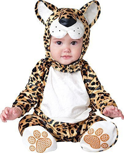 Deluxe Baby Mädchen Leapin Bengalkatze Animal Halloween Charakter Kostüm Kleid Outfit - Braun, 0-6 (Baby Kleider Animal)