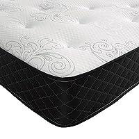 Bedzonline Open Coil Memory Foam Mattress, Fabric,