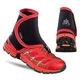 fengwen66 Couvre-Chaussures de Protection Anti-Sable protecteurs de Gaines réfléchissantes Unisexes extérieures Hautes (Noir Rouge)