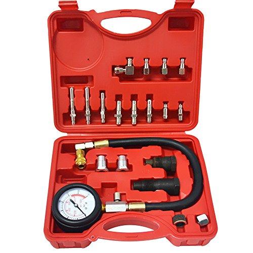 GlobalMa Diesel Kompressionstester Kompressionsprüfer Satz PKW/LKW Meßgerät Tester Verdichtungsmesser KFZ Werkzeug (Deutschland Lagerhaus)