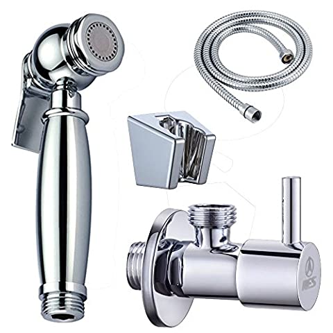 KES LP901 K116A3 Bidet WC Douchette pommeau pulvérisateur avec vanne d'arrêt 1/2