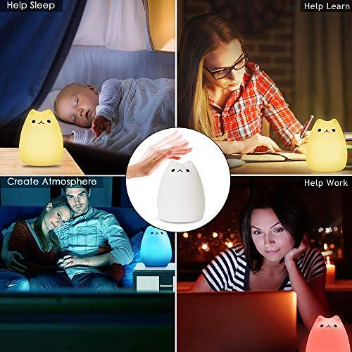 Nachtlampe Baby Nachtleuchte mit Fernbedienung, 16 Farbmöglichkeiten, 4 Lichtmodi, Dimmbar, USB Aufladbar Touch Lamp für Babyzimmer Schlafzimmer  Kinderzimmer - nachtlicht kinder, Nachtlicht, Nachtleuchte, Lichtmodi, Camping, Babyzimmer, Baby
