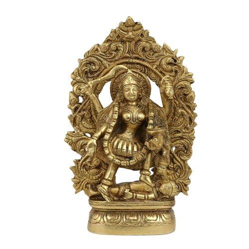 Kali Maa Hindu-Göttin Statue Messing Indien Religiöse Geschenke