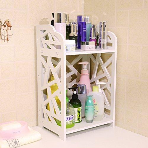 Bad Doppel Rack/Kosmetische Haut Pflege Produkte eingearbeitete finishing Regal/Desktop-Ecke Blumenständer/Racks-B